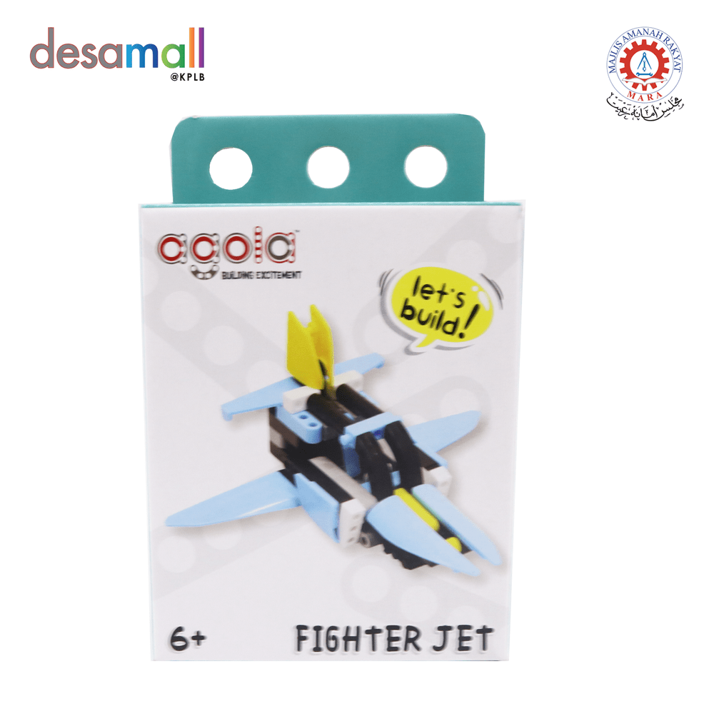 AGOLA Educational Building Block Toys Fighter Jet Learning Pack