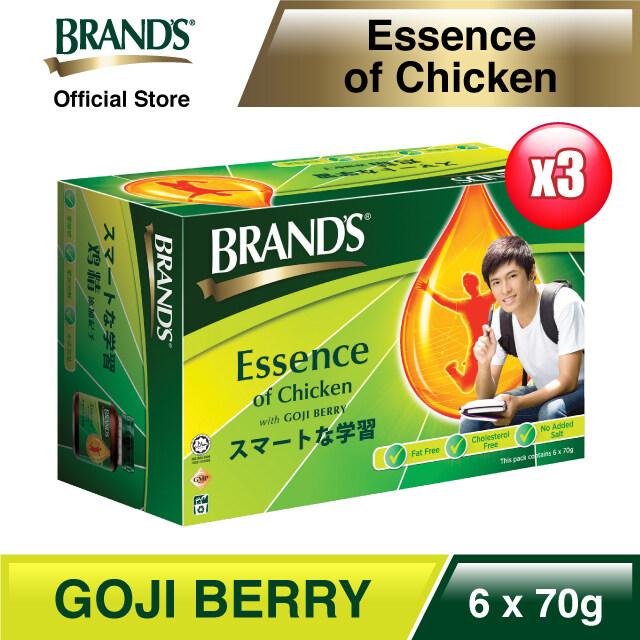 BRAND'S Essence of Chicken with Goji Berry 6's x 70gm x 3 packs