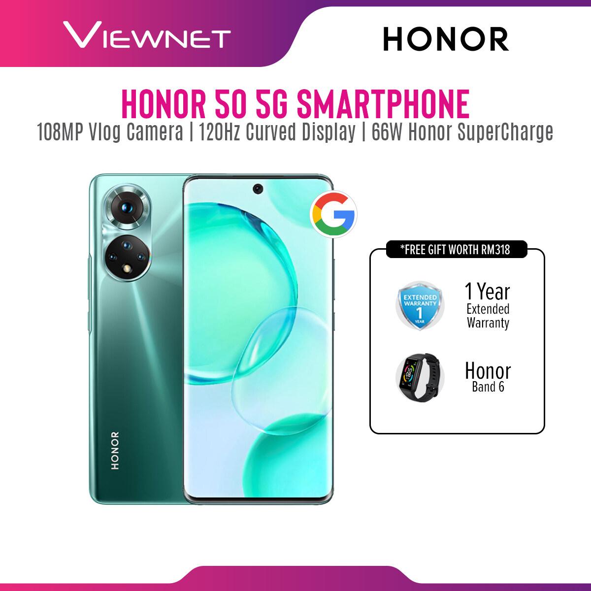 [PRE-ORDER] [New] HONOR 50 (8GB+256GB) - 1+1 Year Warranty (ETA: 2021-10-25)