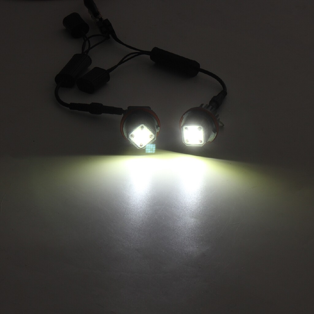 Car Lights - For BMW E39 E53 E65 E66 E60 E61 7000K Angel Eyes LED Light 160W - Replacement Parts