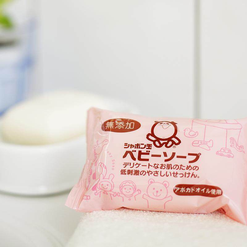 Shabondama Baby Head to Toe Soap Bar (100g x 3) - Natural Avocado oil and Olive Oil Soap - Sabun Mandi Bayi Kanak Kanak - シャボン玉石けん BABY泡泡肥皂 (100克 x 3)