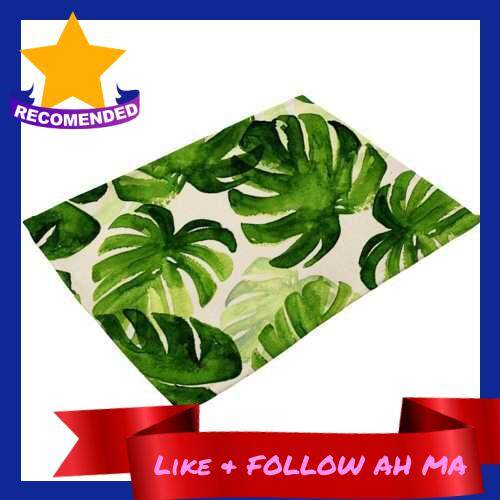 Best Selling Green Plant Printed Polyester Placemat
