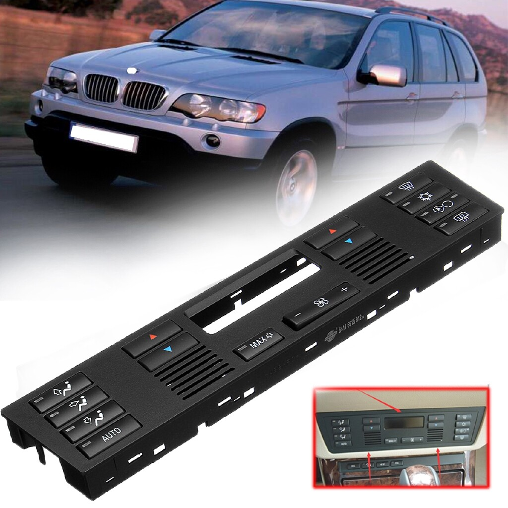 Car Lights - AC Heater Temperature Climate Control Button Panel For BMW 5 SERIES E39 X5 E53 - Replacement Parts