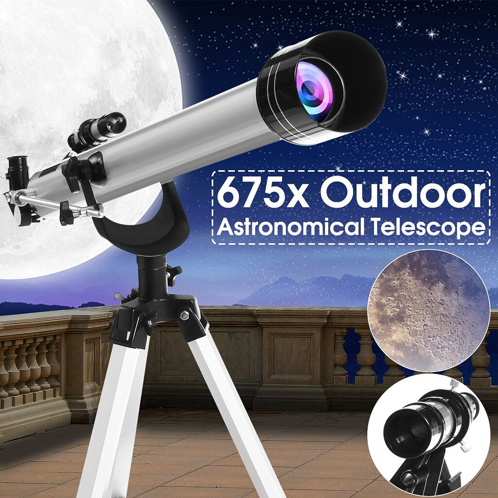Monopod - F60900 675x High Magnification Astronomical Refractive Telescope - Selfie Accessories