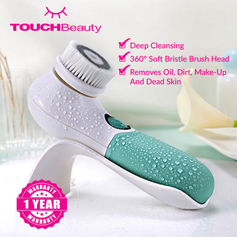 TOUCHBeauty Face Massager Wash Machine TB-1483 Rotary Facial Cleanser/Dual speed rotating facial cleansing brush/360° Soft bristle brush head /Removes oil dirt make-up and dead skin