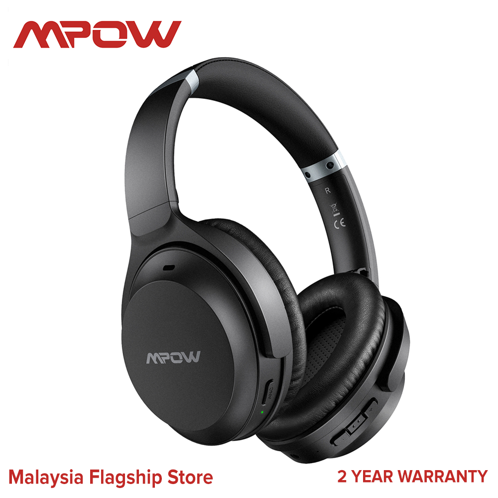[ NEW ARRIVAL ]Mpow H12 IPO Active Noise Cancelling Headphones ANC Headphone, Bluetooth Headphones Over Ear with Type C, CVC 8.0 Mic, 40Hrs, HiFi Deep Bass, Wired and Wireless Headphones for Kids, Adults, Online Class, Office