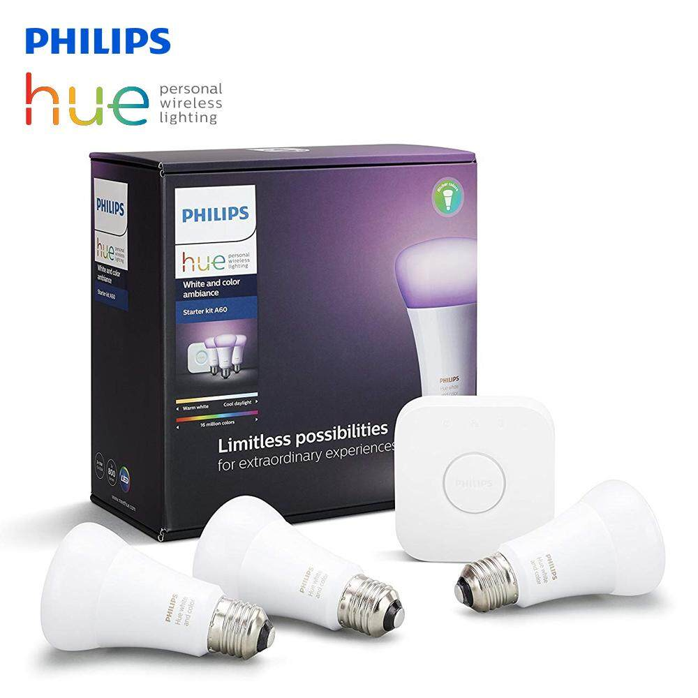 Original Philips STARTER KIT PHILIPS HUE 3 BULB 10W E27 A60 WHITE AND COLOR AMBIANCE