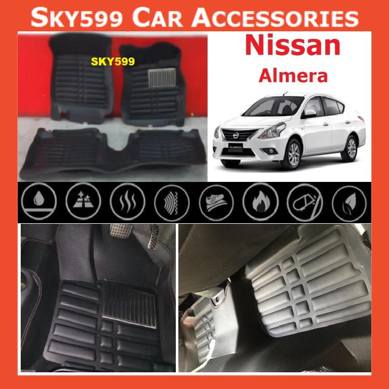Nissan Almera 2013-2020 5D Car Floor Mat/Carpet