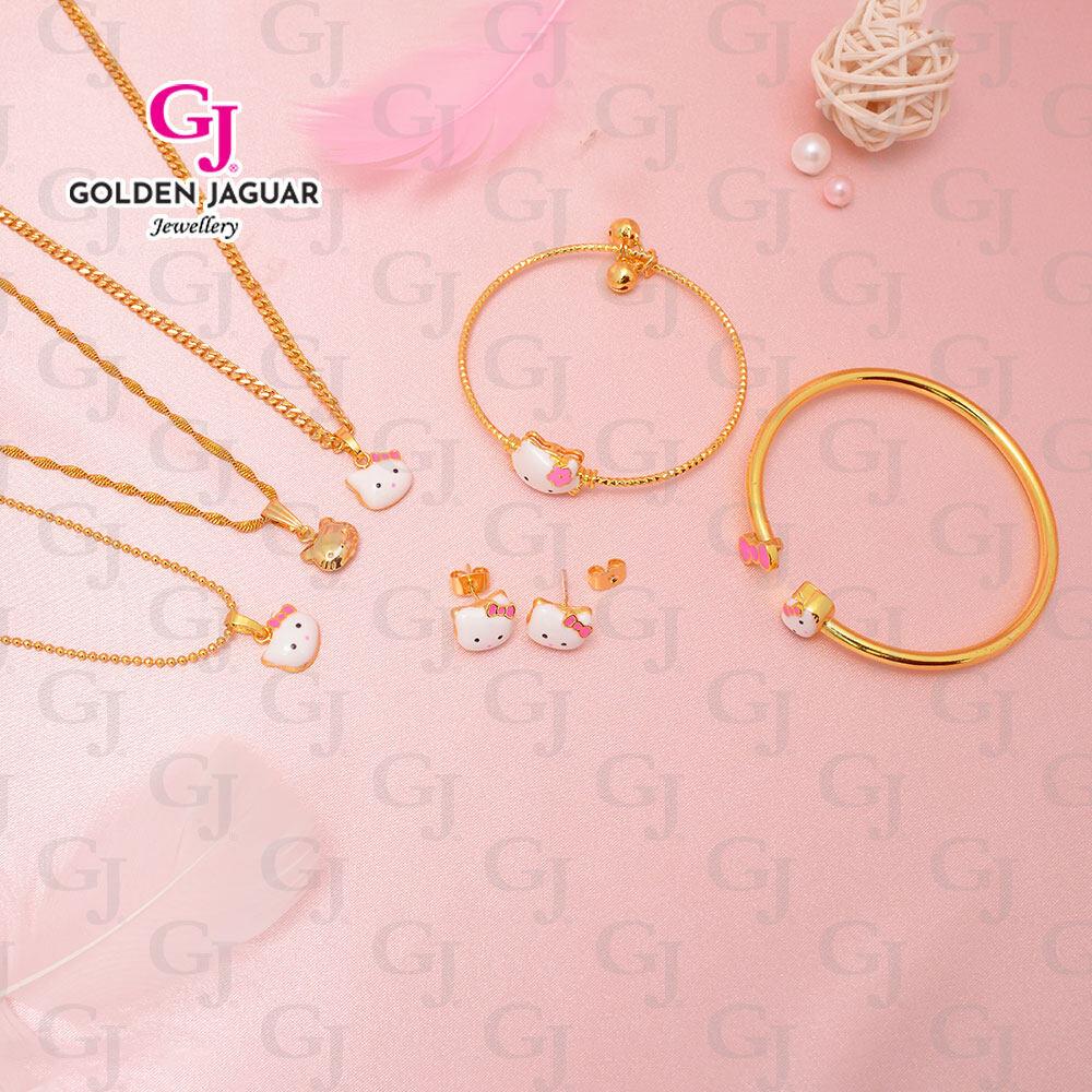 {NEW} GJ Jewellery Emas Korea Set 2 - Classic Perfect Kitty Match (4 in 1) Combo Set