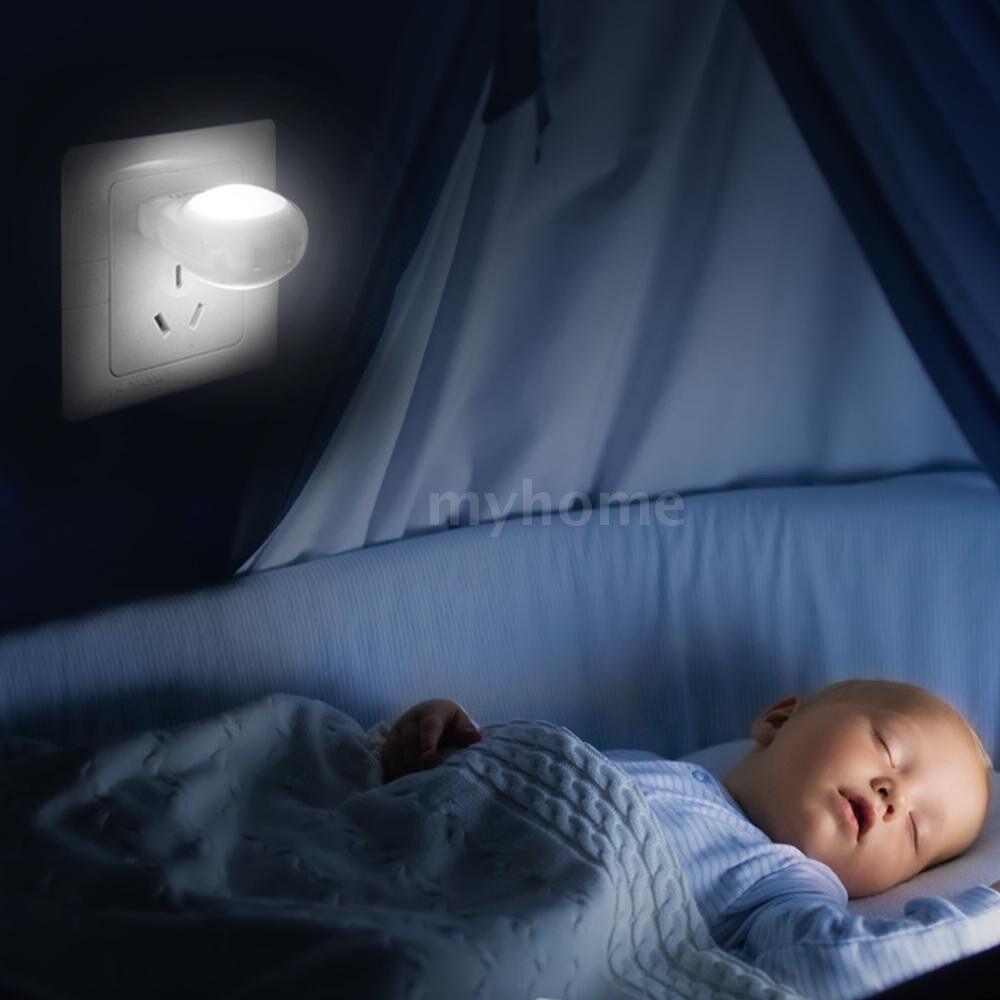 Lighting - AC110-240V 0.7W MINI LED Snail Night light Auto Night Lamp Built-in Light Sensor Control Light Wall - Home & Living