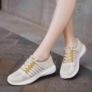 Womens Giản Dị Giày Sneakers Giày Chạy Bộ Tất Dệt Kim, Lưới Thoáng Khí Giày, Thể Thao Ngoài Trời Giày thumbnail
