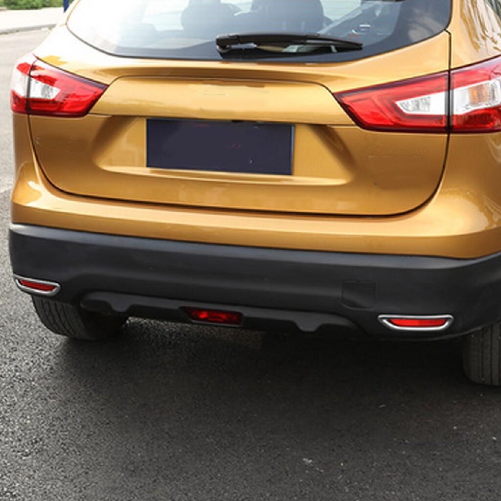 Car Lights - 2 PIECE(s) Chrome Rear Fog Light Cover Trim Bumper For Nissan Qashqai J11 2014-2017 - Replacement Parts