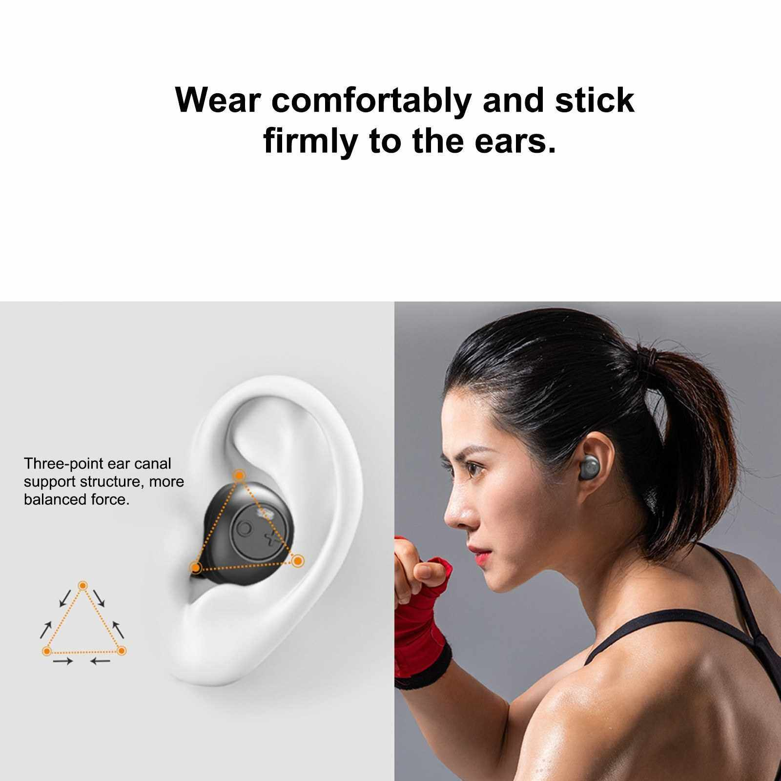 Best Selling ANC X8 Active Noise Reduction Headphones TWS Headset Bluetooth 5.0 Earphone ANC Wireless Earbuds Built-in Microphone with 550mAh Charging Box (Black)