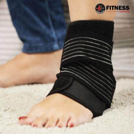 Fitness Captain Adjustable Ankle Brace Support Sports Protective Sprained Ankle Compression Support Wrap Strap