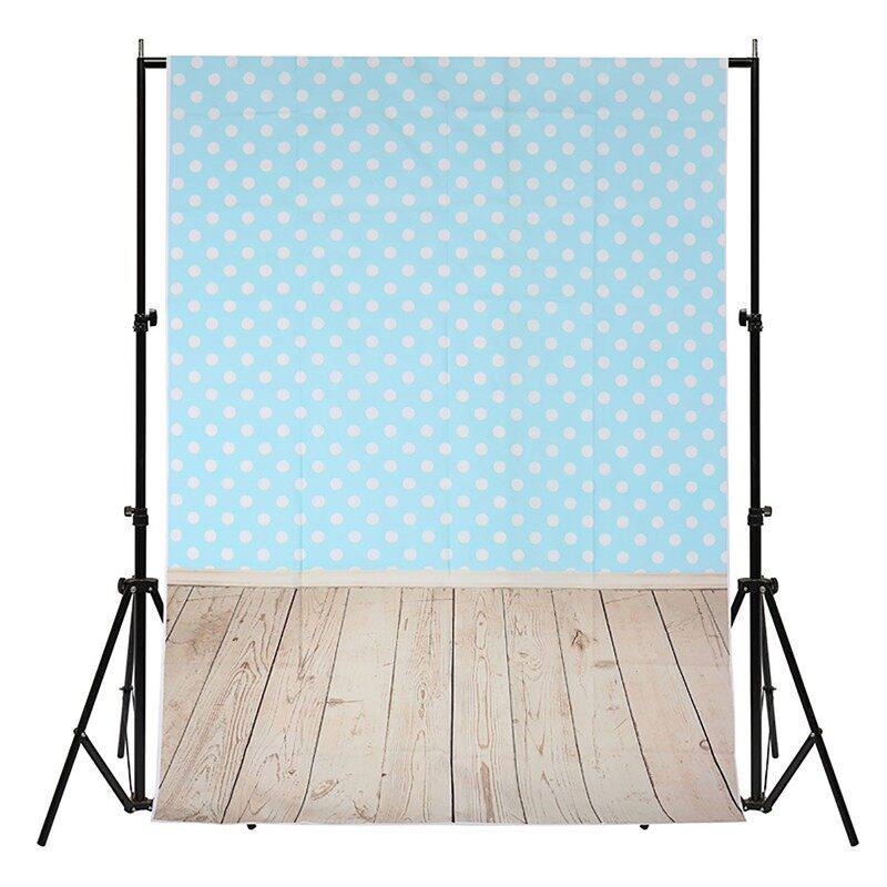 Lighting and Studio Equipment - 1.5x2.1M White Dot Water Blue Photography Background Backdrop Studio Photo- Camera Accessories
