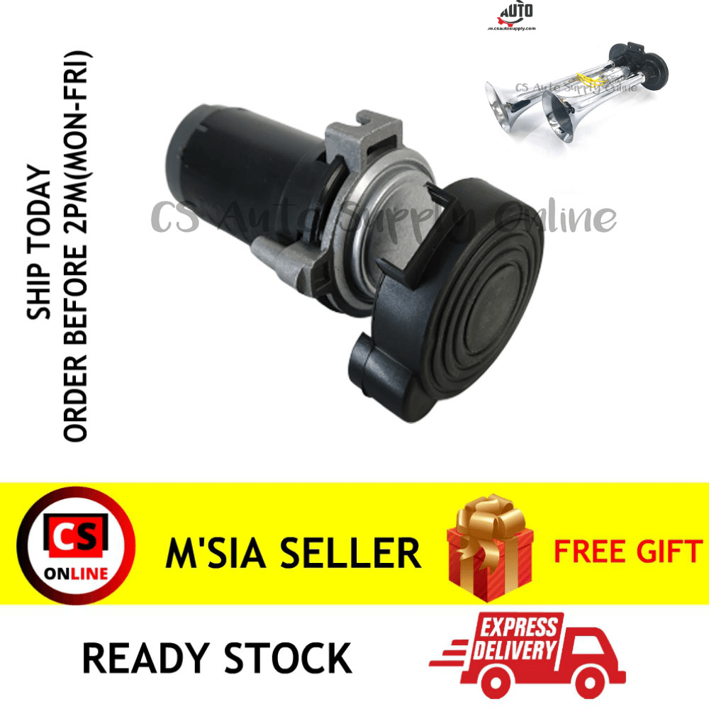 [Ready Stock] CS Universal Super Loud Air Horn Compressor for Truck 24V (without air horn)