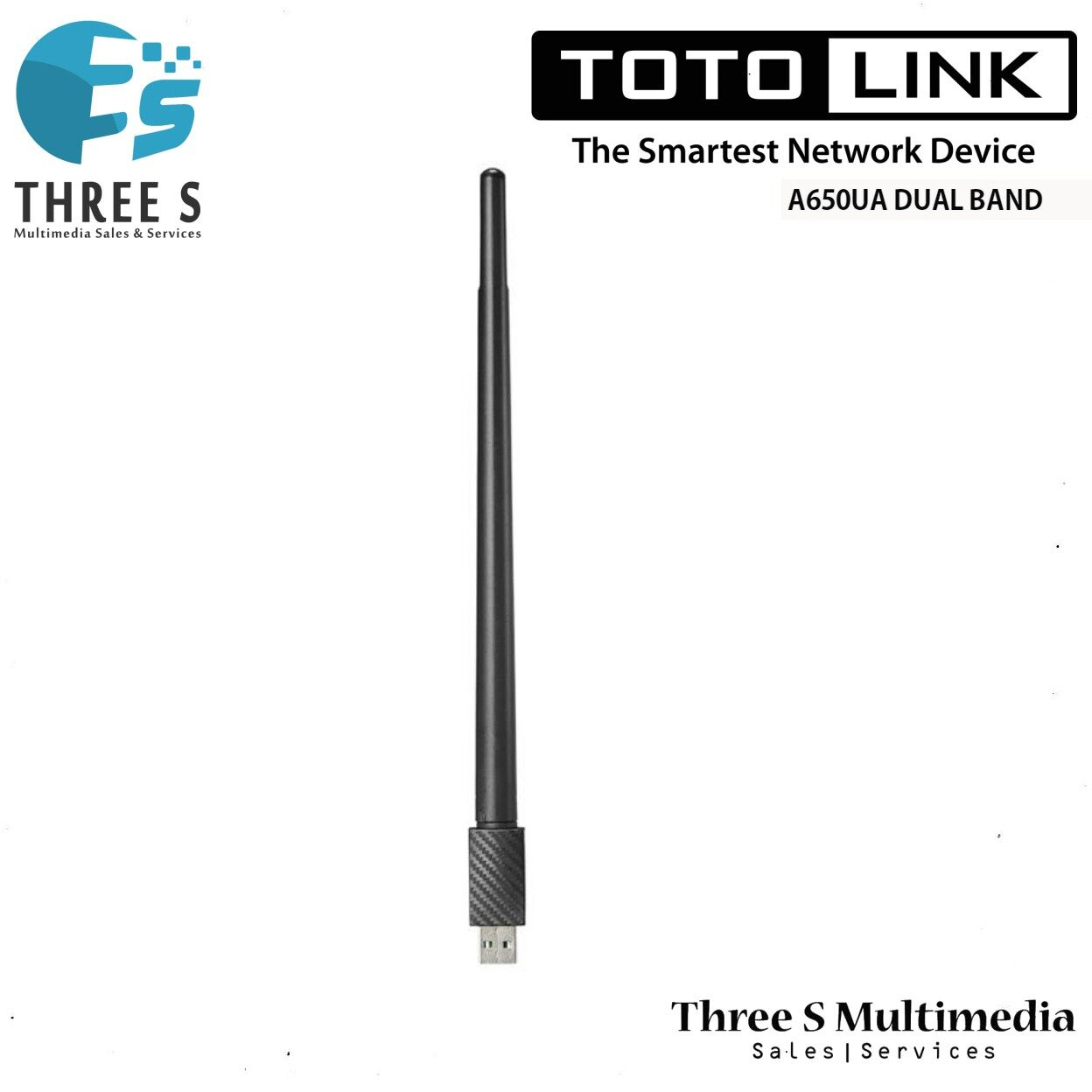 TOTO LINK AC650 Dual Band USB WiFi Adapter With Antenna A650UA