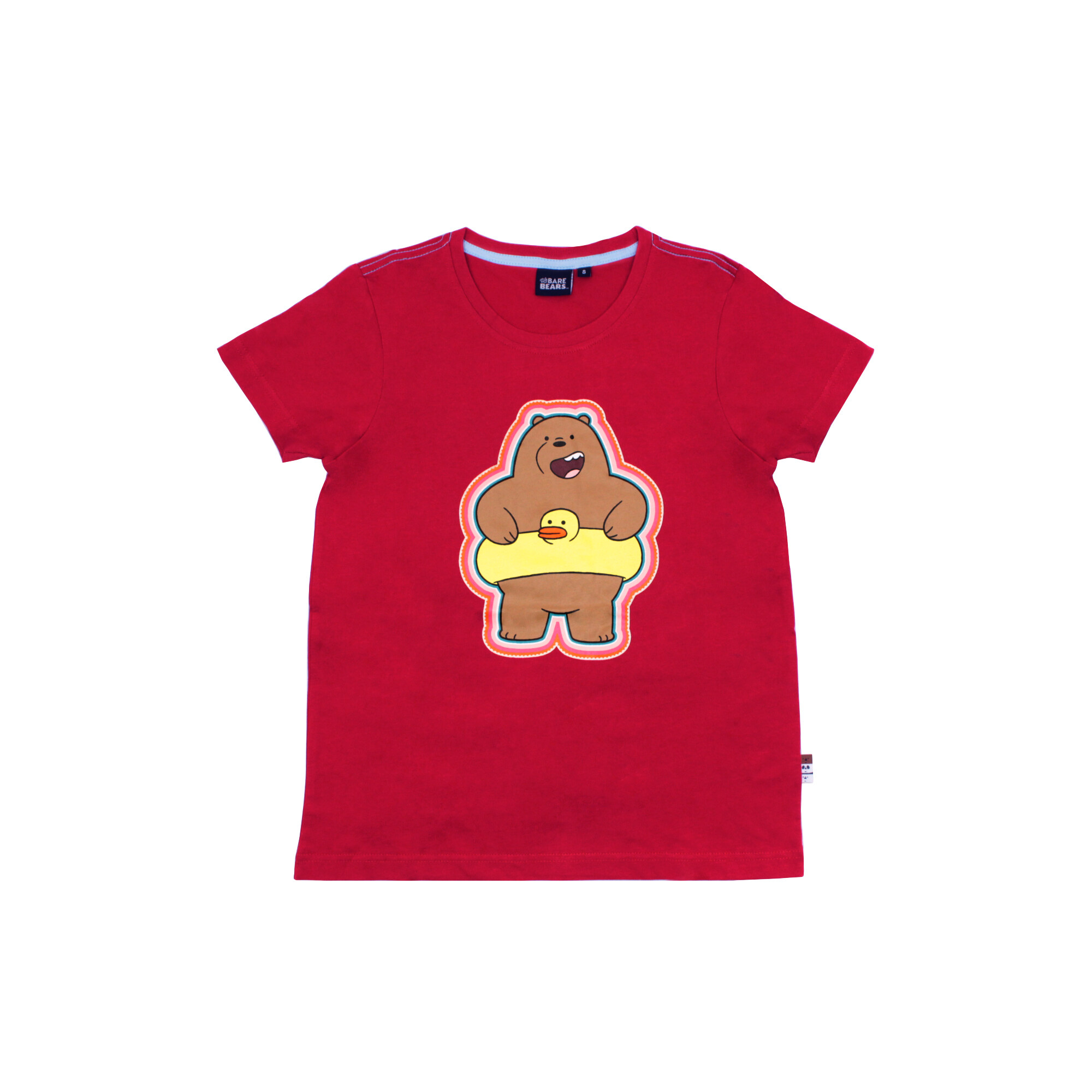 We Bare Bears Lady Tee 100% Cotton Red Colour -Grizz