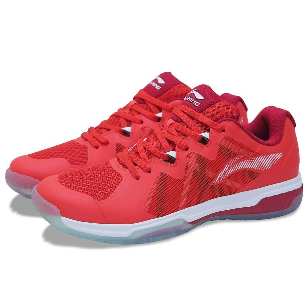 Li-Ning Dual Cloud Lite Badminton Shoes - Bulls Red AYTN083-3