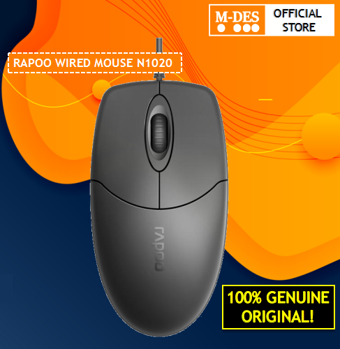 RAPOO N1020 Optical Mouse Wired Mouse