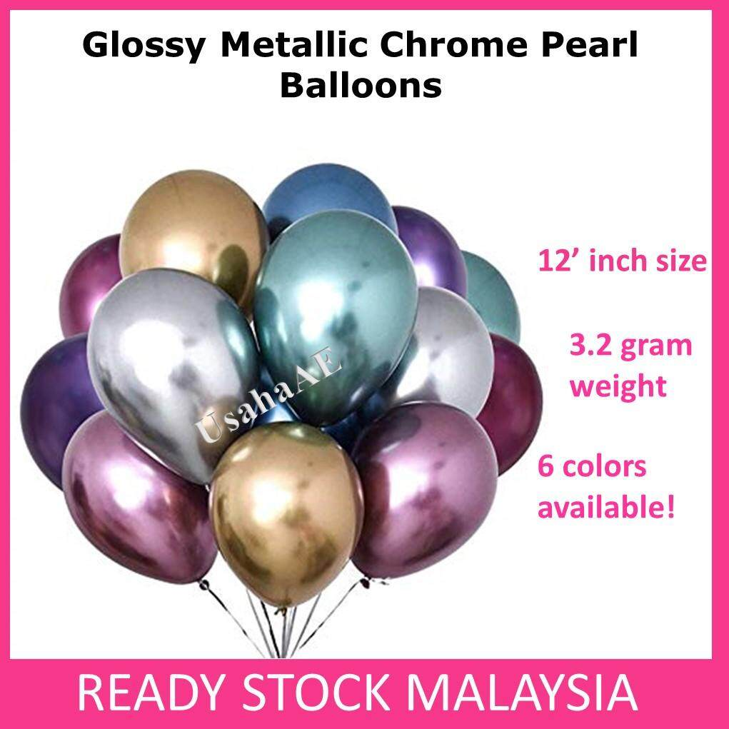 (1 pc) Glossy Metallic Chrome Pearl Balloon Party Decoration toys for girls