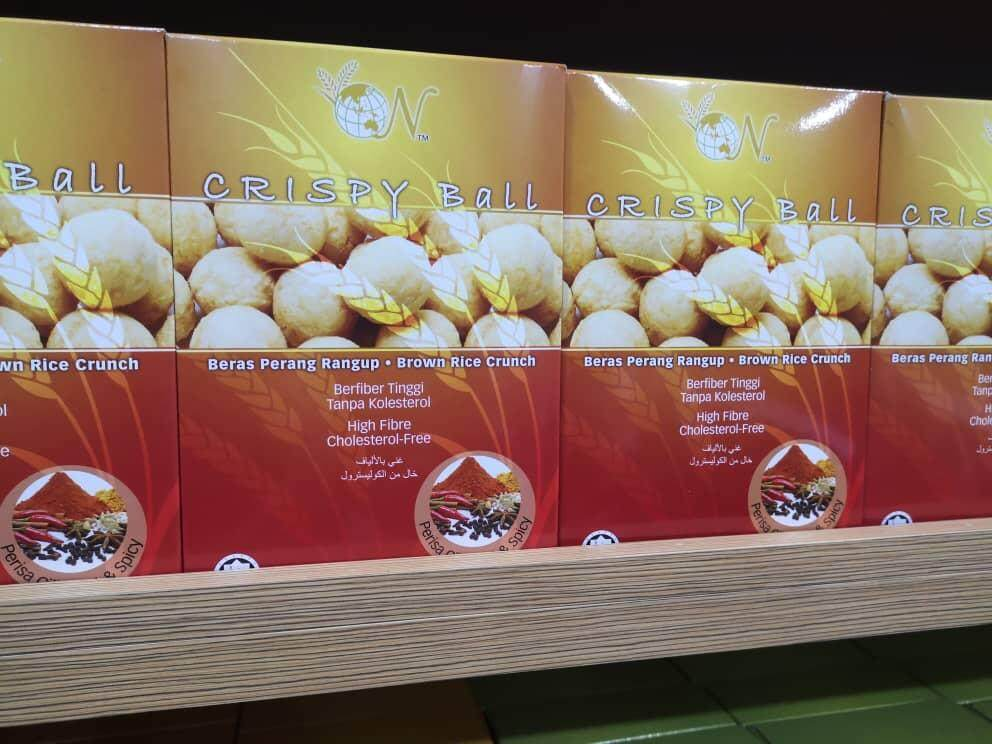 EL-Brown Rice Crispy Ball - Hot & Spicy Flavour 50g