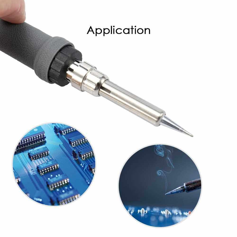 Internal Heating Adjustable Digital-control Thermostatic Lead-free 60W Electric Soldering Iron Suit (Eu)