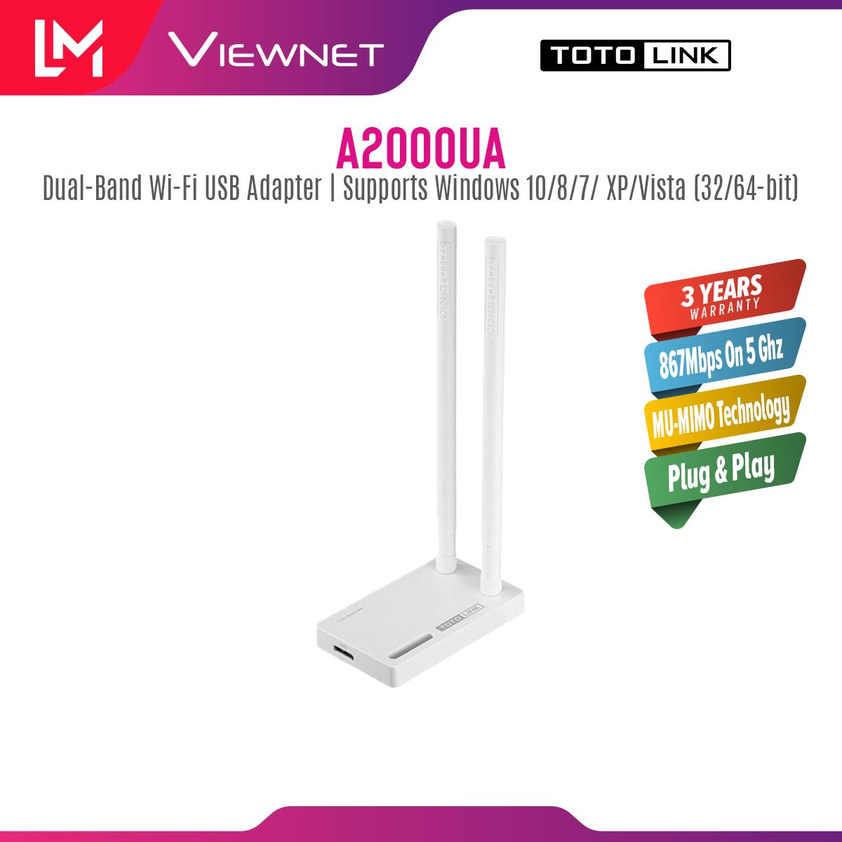 Totolink USB AC1200 Antenna Wifi Adapter (A2000UA)