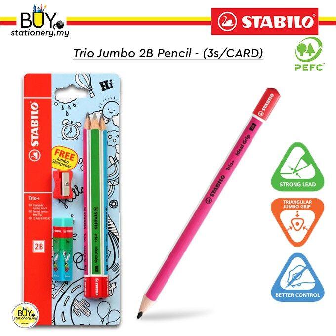 Stabilo Trio Jumbo 2B Pencil - (1s/CARD)