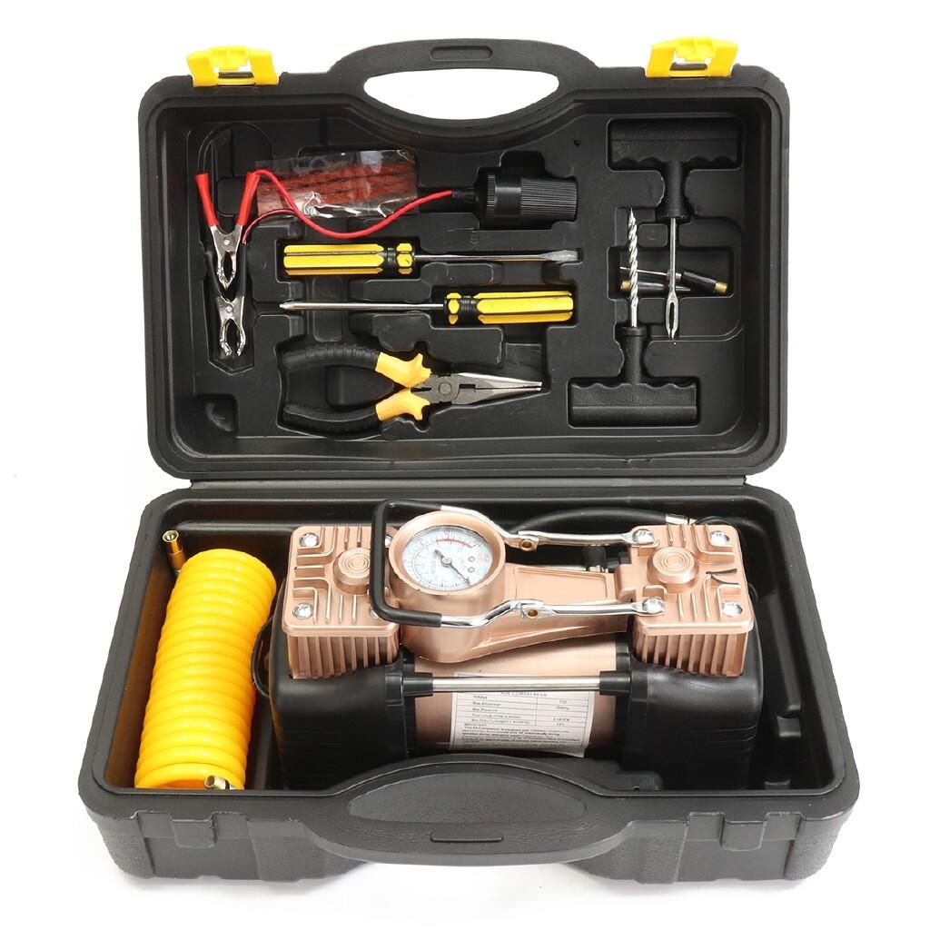 DIY Tools - 12v Car Auto Air Compressor 150PSI Tyre Deflator PORTABLE Inflator Pump 35L/Min - Home Improvement