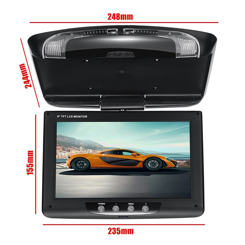 Car Multimedia Players - Car Multimedia Video DVD Roof Ceiling Flip Down Monitor Auto LCD TFT Player - Electronics