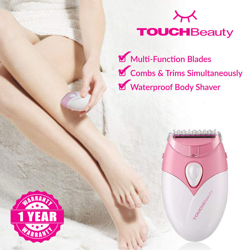 TOUCHBeauty Electric Lady Shaver / Pencukur TB-1459 Rechargeable Electric Hair Trimmer Clipper Shaver Women Lady's Remover Depilation Bikini Trimmer Hair Waterproof Long Use Arm Leg Armpit Body Hair Remover Trimmer