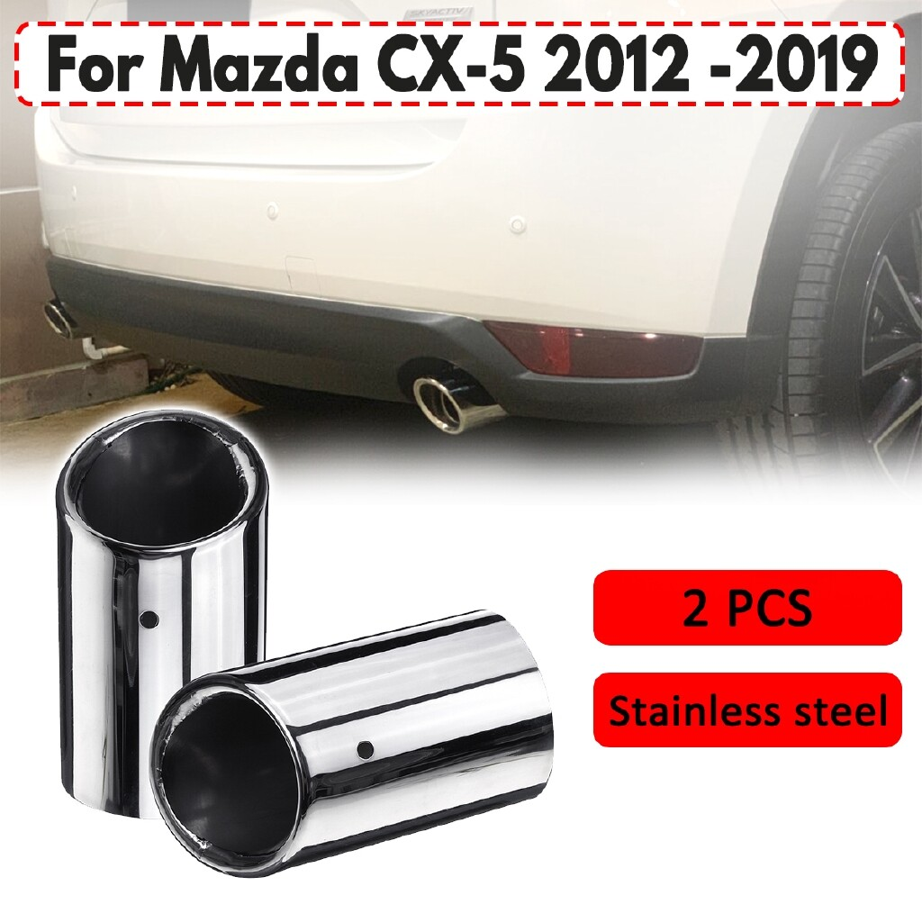 Automotive Tools & Equipment - Stainless steel Exhaust Tip Tail Pipe Muffler For Mazda CX-5 CX5 kf 2012- - Car Replacement Parts