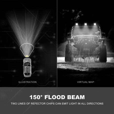 1 Piece 4Inch 672W CREE LED Work Light Bar Offroad Driving Truck Flood Beam VS Spot