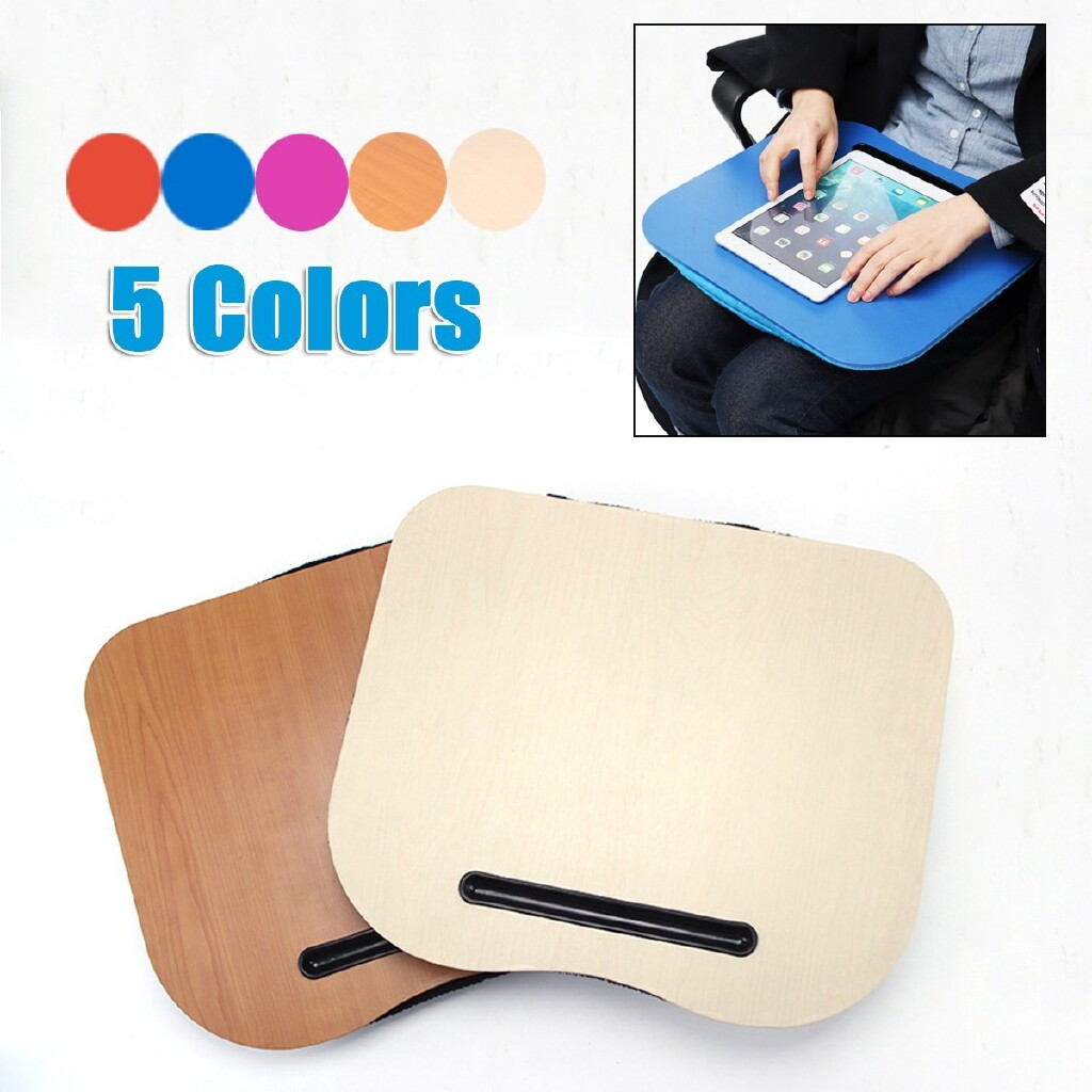 Mousepads - Laptop Lap Desk Bed Computer Table Holder PORTABLE Tray Notebook Stand Pad Gift - SHALLOW WOODEN-GRAIN / BROWN / BLUE / ROSE / RED / GREY / BLACK(