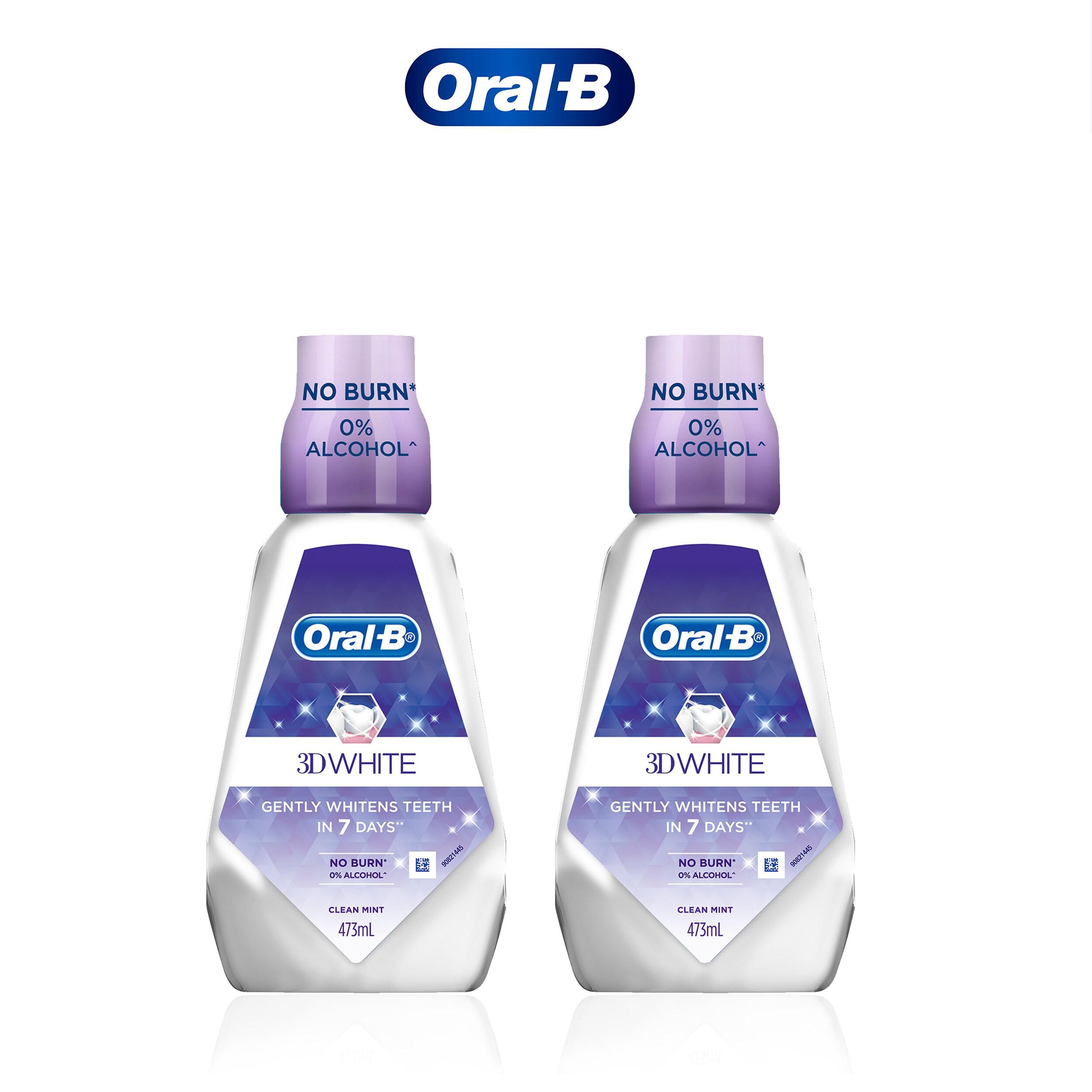 Oral-B 3D White Mouthwash Bundle Pack (473ml x 2)
