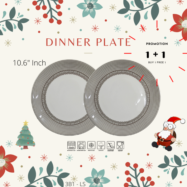 Buy 1 Free 1-Christmas Promotion-3B3LS-FLOWER GREY-Dinning set-Christmas Gift-1212Promotion