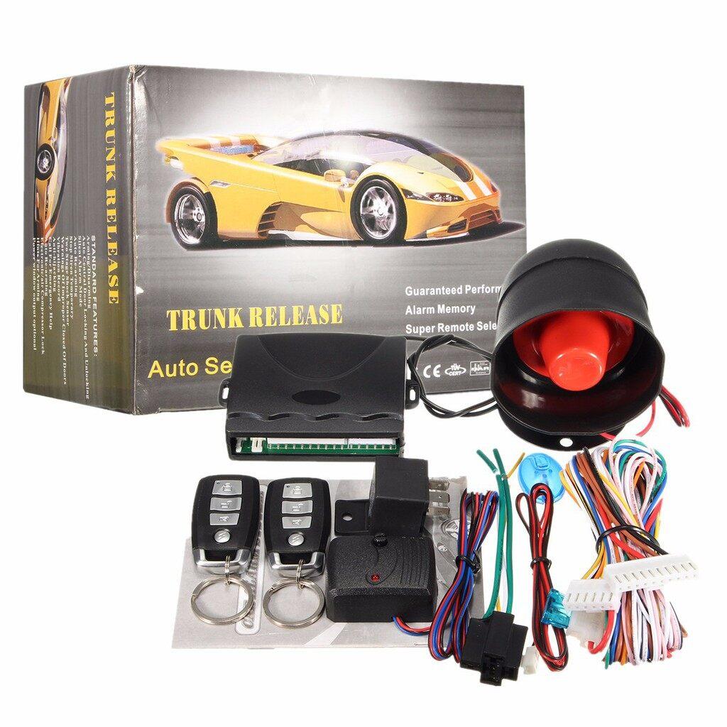 Tyres & Wheels - Universal Car Auto Keyless Central Door Lock Security Alarm System Shock Sensor - Car Replacement Parts