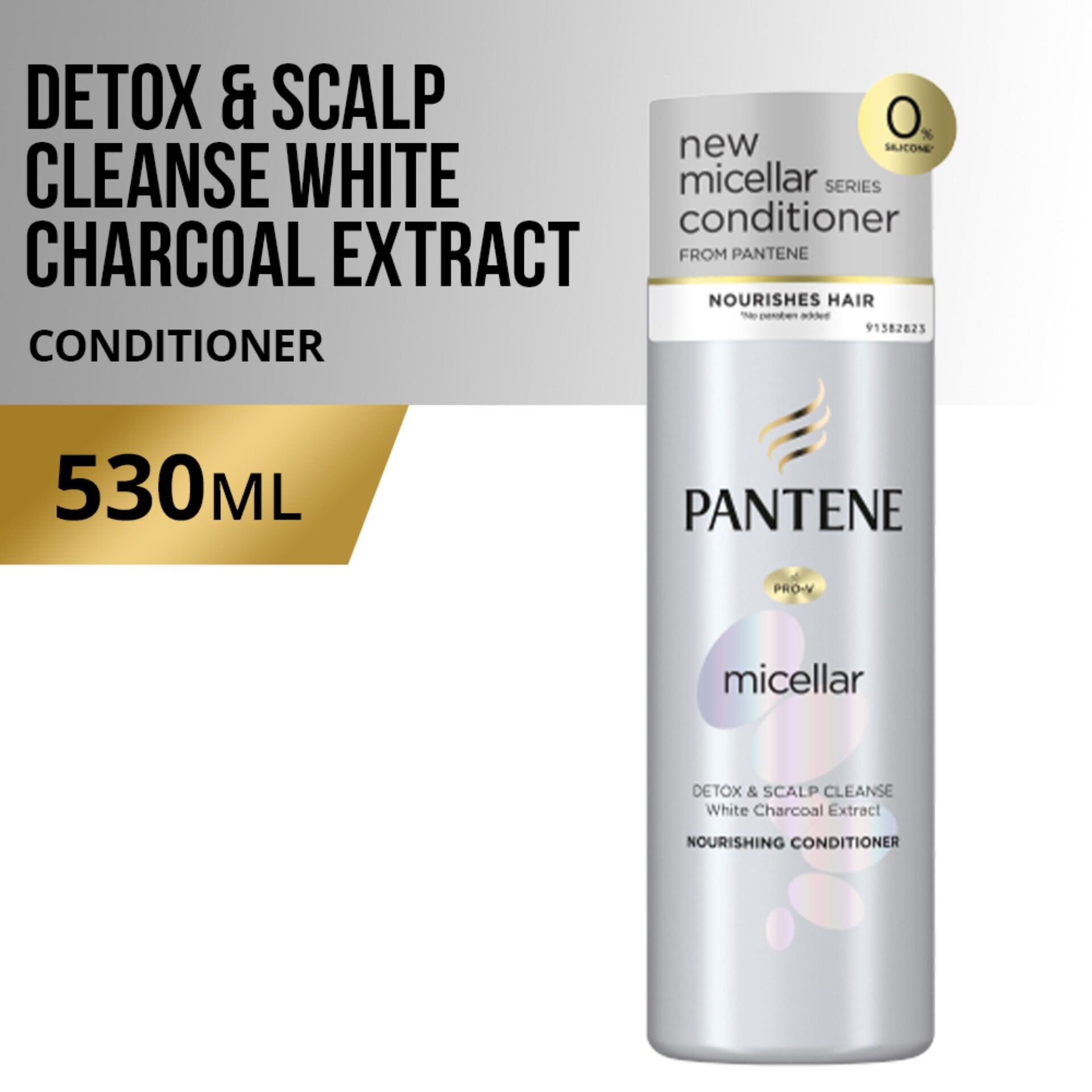 Pantene Micellar Detox & Scalp Cleanse White Charcoal Extract Conditioner 530ml