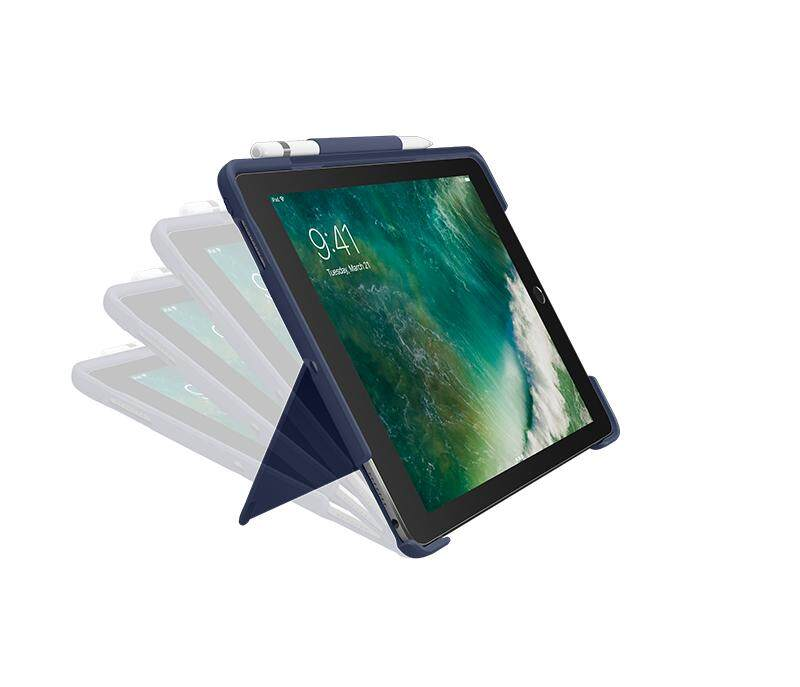 [Ready stock] Original Logitech New iPad Air 10.5 (2019) Keyboard Case Slim Combo with Detachable, Backlit, Wireless Keyboard and Smart Connector (Blue) 920-008409