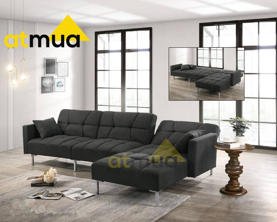 Atmua Furniture Perfect Sofa Bed L-Shape Sofa Recliner Sofa Export Quality Strong and Sturdy Material (Free 2 Small Pillow)