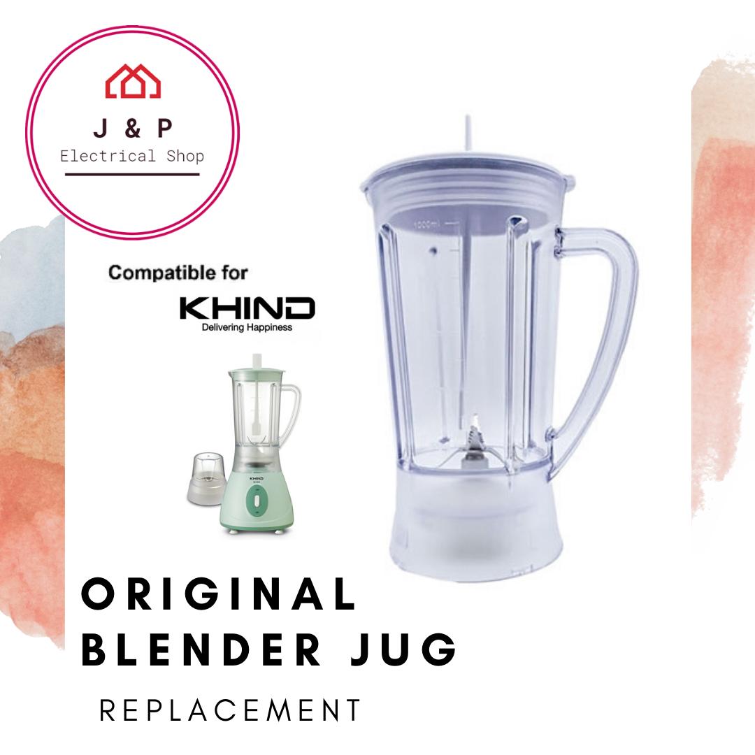 KHIND Original Blender Jug Replacement 1.0L ( BL1012/ BL 1512) 搅拌机杯 1.0升  [READY STOCK 现货]1356680108-1597899457730-0