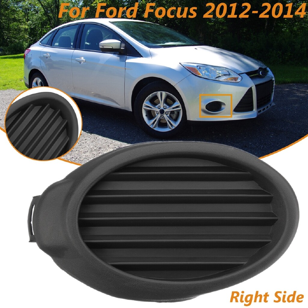 Car Lights - Front Right RH Fog Lamp Cover Vent Grille Bezels For Ford Focus 2012 2013 2014 - Replacement Parts