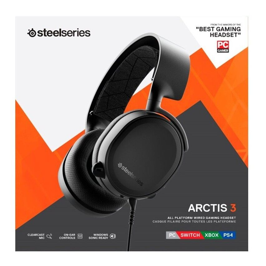 {READY STOCK}{Ship Out Within 24Hours} STEELSERIES ARCTIS 3 2019 EDITION 7.1 SURROUND SOUND FOR PC , PS4 , XBOX, SWITCH