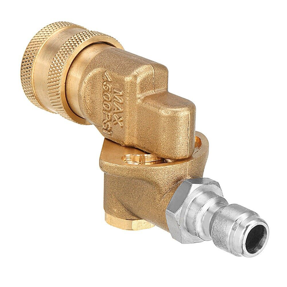 Cleaning Equipment - 4500PSI Pressure Washer 90 1/4 Pivot Coupler Quick Connect & 7 PIECE(s) Spray Nozzle - Car Care