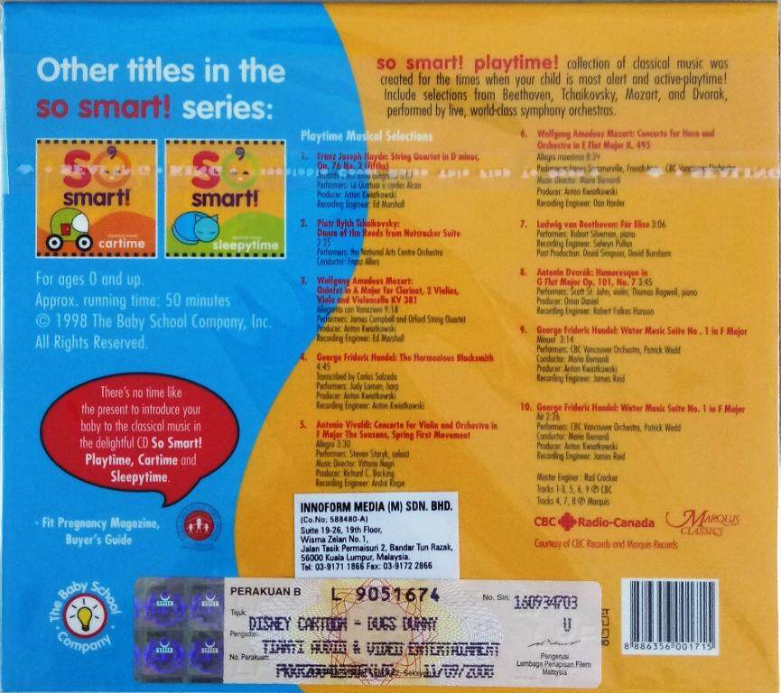 So Smart Series - Playtime Classical Music CD For Baby Ages 0 and up