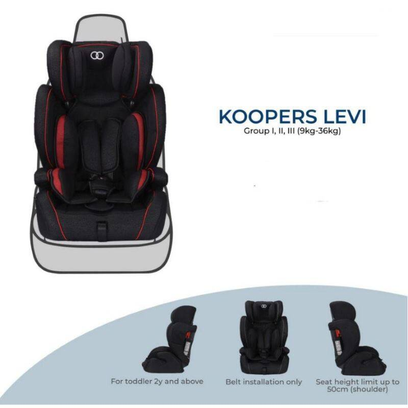 Koopers: Le-Vi Combination Booster Car Seat - RED