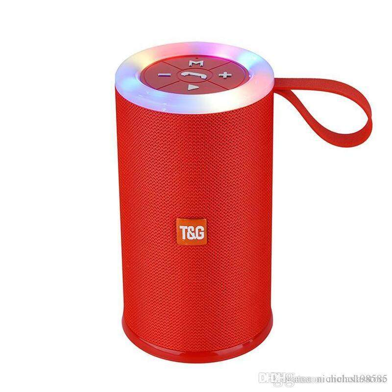 TG-512 TG512 BLUETOOTH PORTABLE WIRELESS SPEAKER WITH LED FLASHIG LIGHT (Fresh Import) High Quality RED