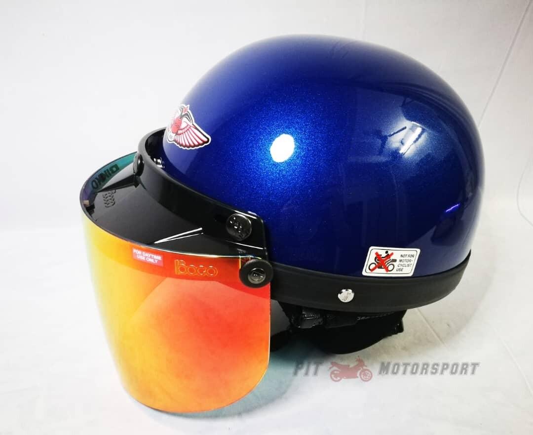 MHR 3 BLUE /MHR III Half Helmet Original KYT Arai SGV AGV LS2 X-dot Givi Taichi Alpinestar NLK R15 Y15 RS150 LC135 FZ150