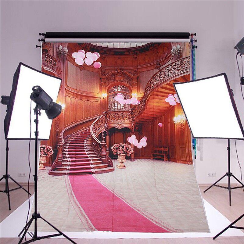 Lighting and Studio Equipment - Indoor Stairs Theme Wall Vinyl Photography Backdrop Background Studio Prop - Camera Accessories